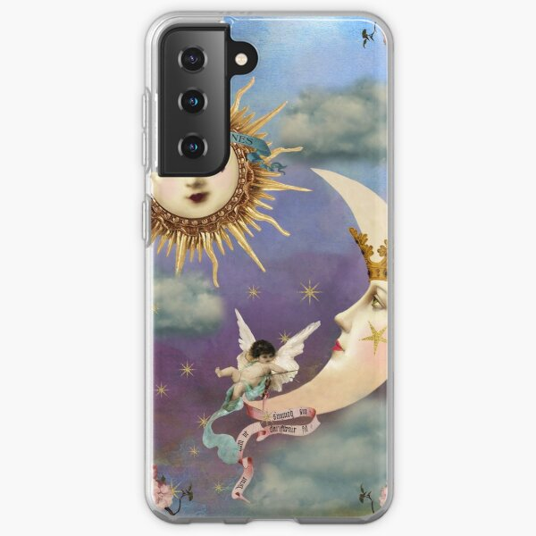Sun and Moon - Celestial Angel - Tarot Sun- Tarot Moon Samsung Galaxy Soft Case
