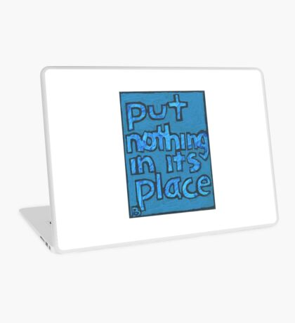 Put Nothing in Its Place - Brianna Keeper Painting Laptop Skin