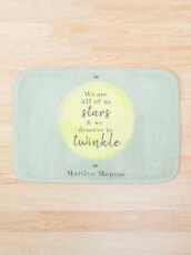 Marilyn Monroe Quote Bath Mat