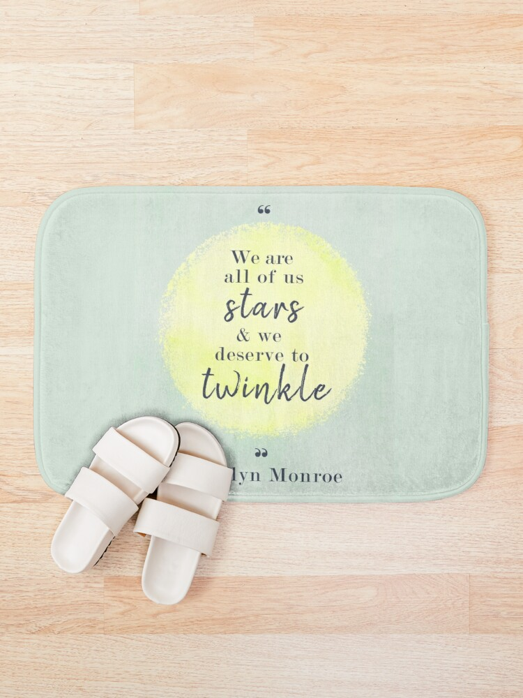 Alternate view of Marilyn Monroe Quote Bath Mat
