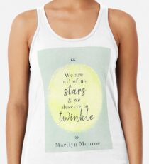 Marilyn Monroe Quote Racerback Tank Top