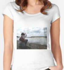 Photographing The Photographer Women's Fitted Scoop T-Shirt