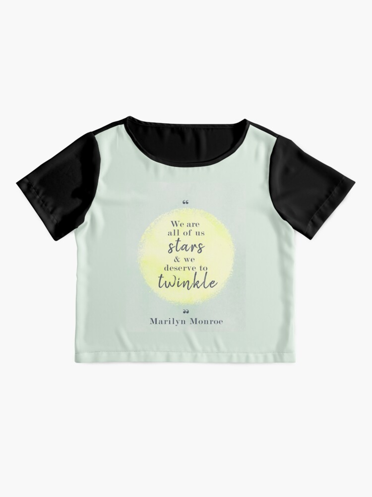 Alternate view of Marilyn Monroe Quote Chiffon Top
