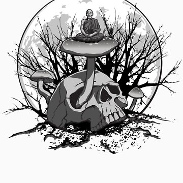 Skull Meditation by kgosselinart