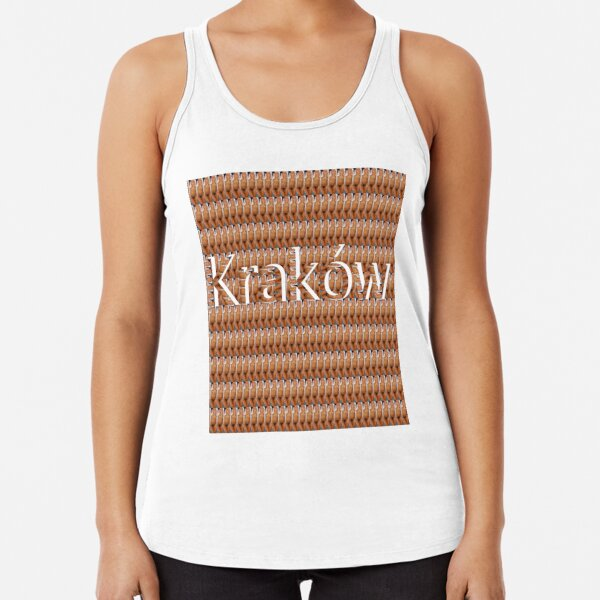 Kraków (Cracow, Krakow), Southern Poland City, Leading Center of Polish Academic, Economic, Cultural and Artistic Life Racerback Tank Top