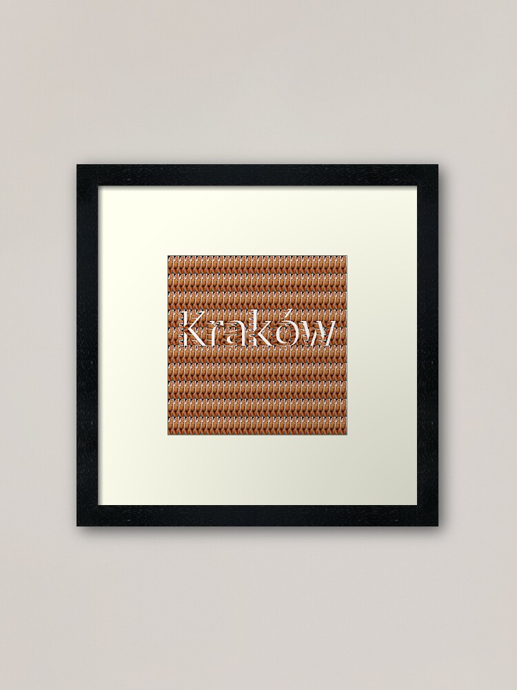 Alternate view of Kraków (Cracow, Krakow), Southern Poland City, Leading Center of Polish Academic, Economic, Cultural and Artistic Life Framed Art Print