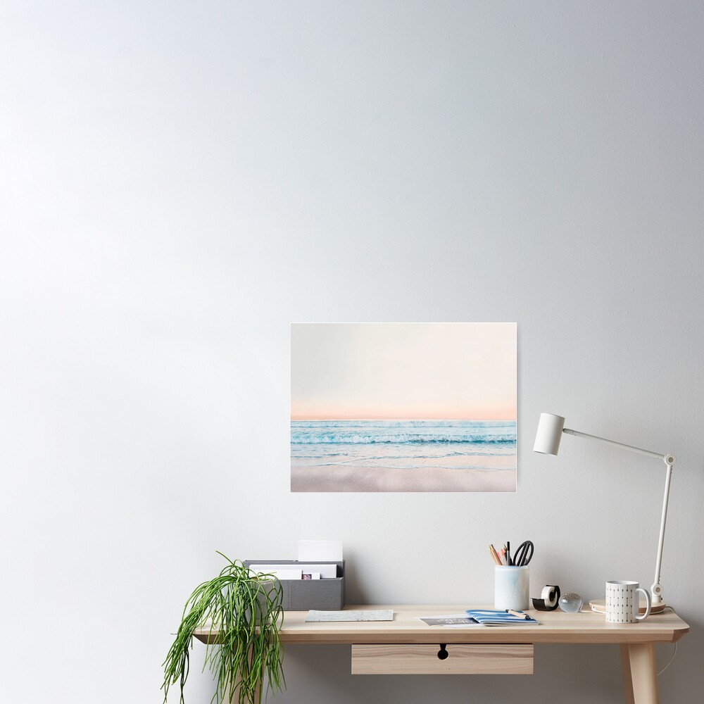 Minimalist Ocean Print Poster