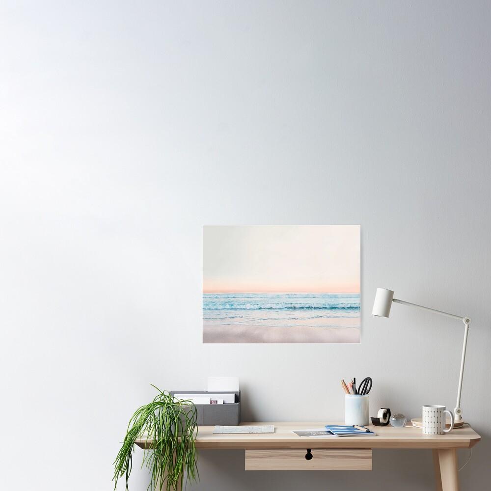 Minimalistischer Ozean-Druck Poster