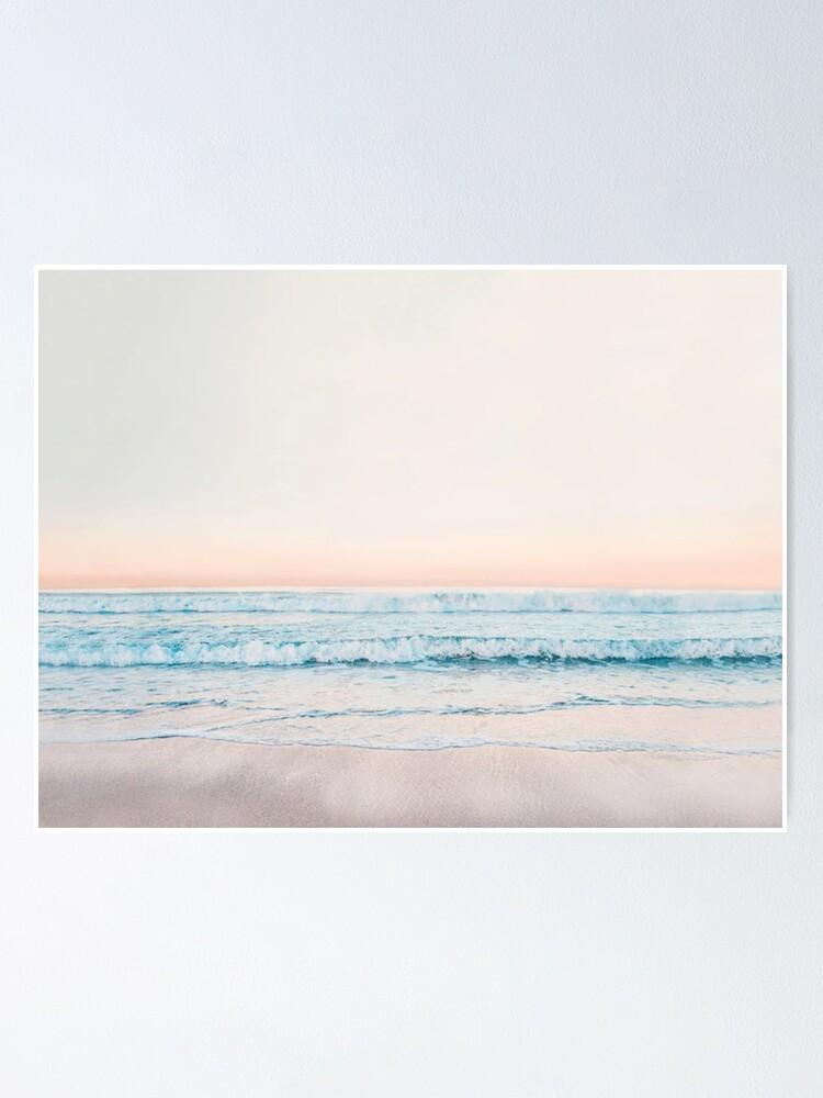 Alternate view of Minimalist Ocean Print Poster