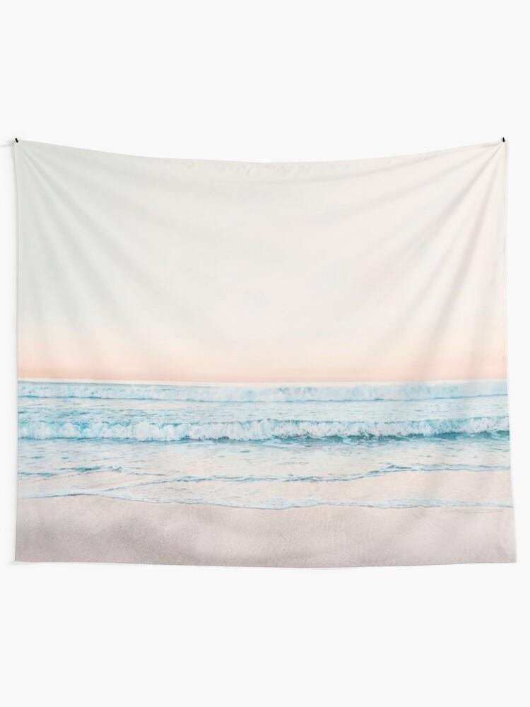 Alternate view of Minimalist Ocean Print Tapestry
