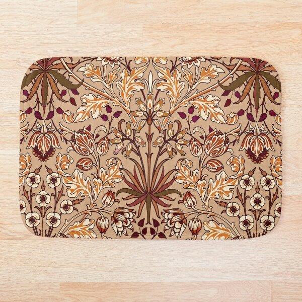 William Morris Hyacinth, Brown and Beige Bath Mat