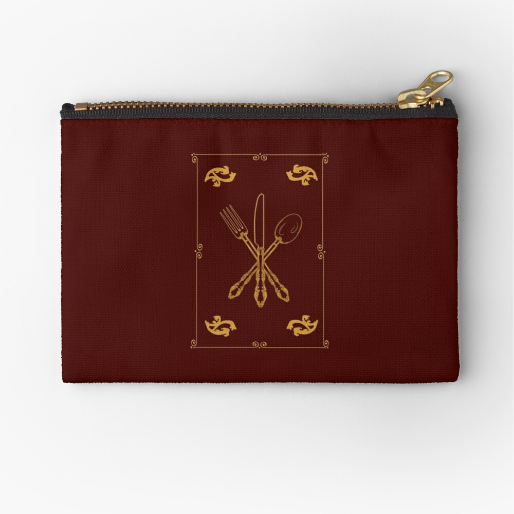 Just Add Magic Utensils Gold with Border Zipper Pouch