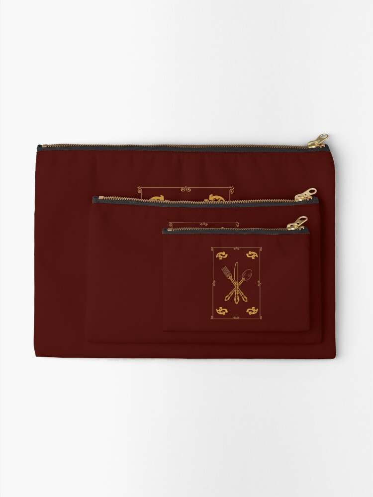 Alternate view of Just Add Magic Utensils Gold with Border Zipper Pouch