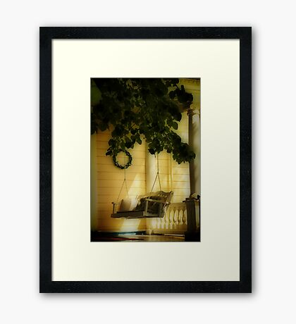 Memories, the Front Porch Swing Framed Print