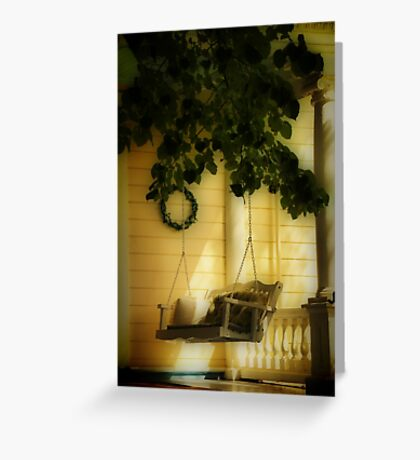 Memories, the Front Porch Swing Greeting Card