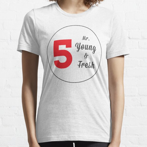 Mr. Young and Fresh (Black Text) Essential T-Shirt