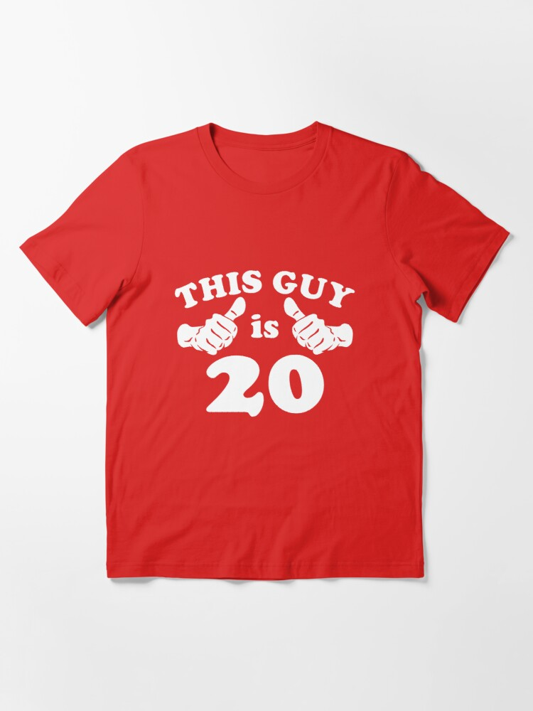 Alternate view of This Guy is 20 Essential T-Shirt