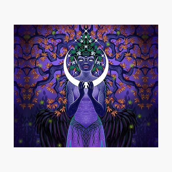 Forest Moon Photographic Print