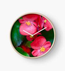 Pink Tropical Floral Clock