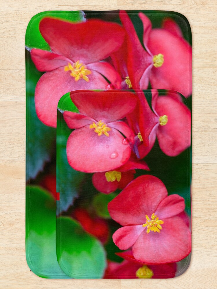 Alternate view of Pink Tropical Floral Bath Mat