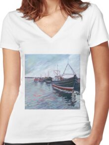 Mothership Women's Fitted V-Neck T-Shirt