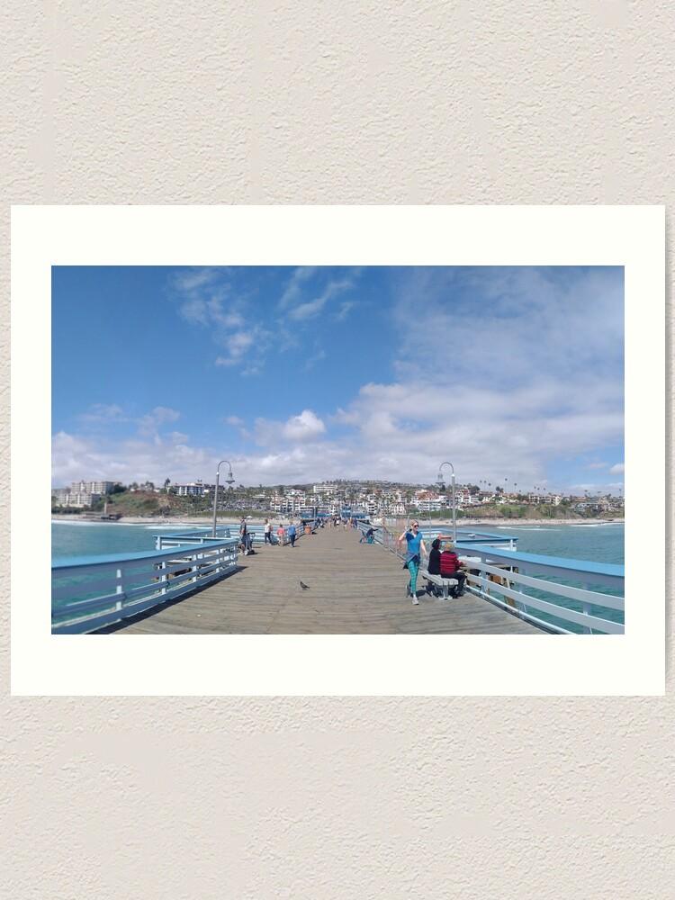 Alternate view of  San Clemente Pier Art Print