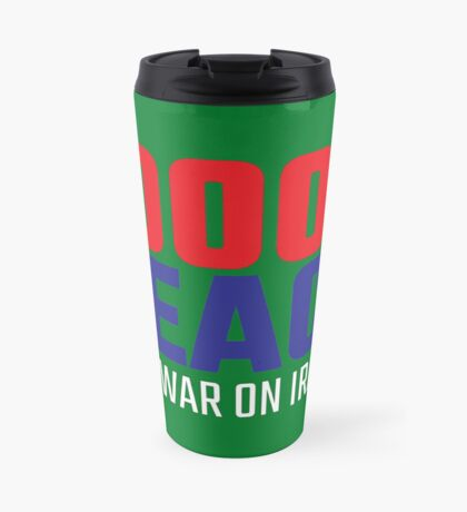 10004 (for) PEACE - No War on Iran! Travel Mug