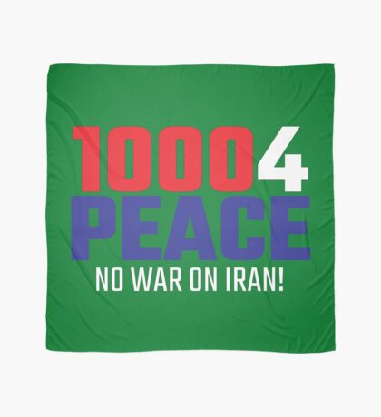 10004 (for) PEACE - No War on Iran! Scarf