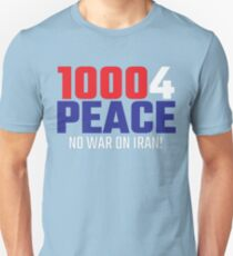 10004 (for) PEACE - No War on Iran! Slim Fit T-Shirt