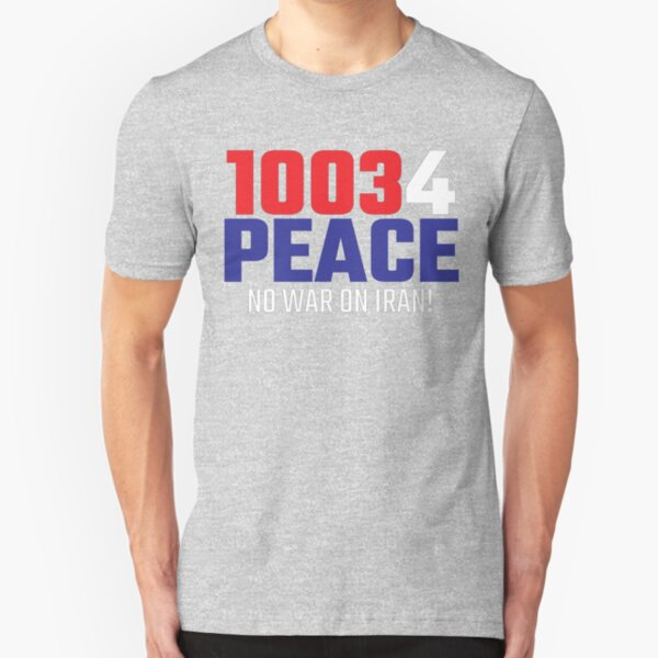 10034 (for) PEACE - No War on Iran! Slim Fit T-Shirt