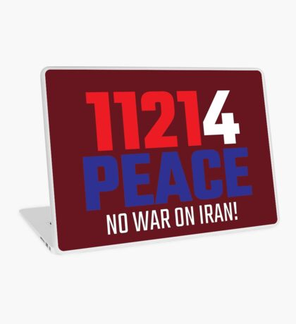 11214 (for) PEACE - No War on Iran! Laptop Skin