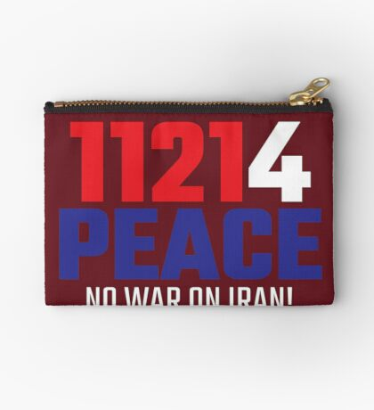 11214 (for) PEACE - No War on Iran! Zipper Pouch