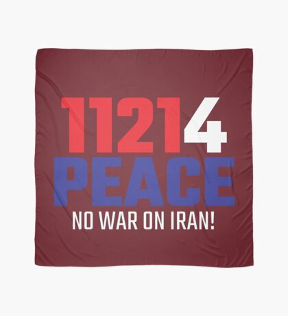 11214 (for) PEACE - No War on Iran! Scarf