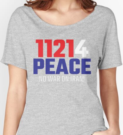 11214 (for) PEACE - No War on Iran! Relaxed Fit T-Shirt