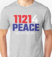 11214 (for) PEACE - No War on Iran! Slim Fit T-Shirt