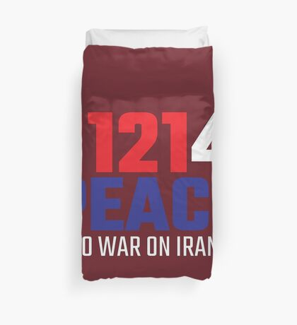 11214 (for) PEACE - No War on Iran! Duvet Cover