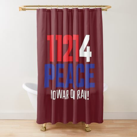 11214 (for) PEACE - No War on Iran! Shower Curtain