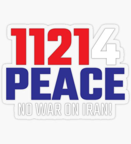 11214 (for) PEACE - No War on Iran! Transparent Sticker