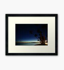 Rarotonga by Night Framed Print