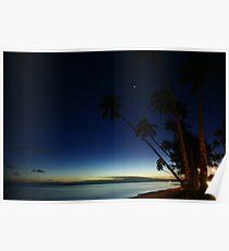 Rarotonga by Night Poster