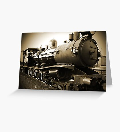 Steam Train in Queenscliff Greeting Card