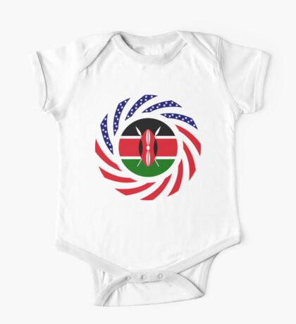 Kenyan American Multinational Patriot Flag Series Kids Clothes