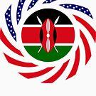 Kenyan American Multinational Patriot Flag Series by Carbon-Fibre Media