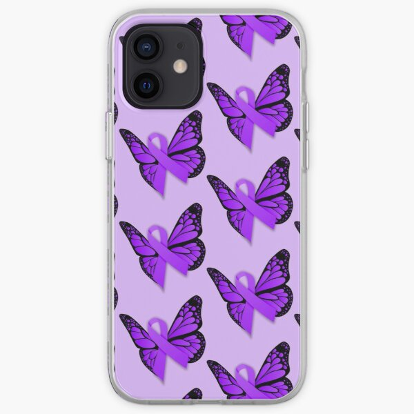 Purple Butterfly Awareness Ribbon iPhone Soft Case