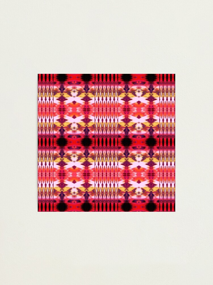 Alternate view of Ikat Stripe Ombre' Red Photographic Print
