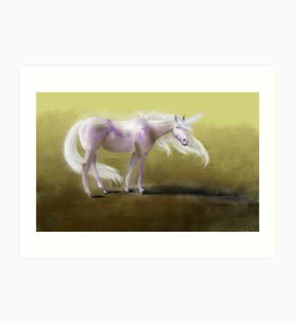 Uncamouflaged Unicorn Art Print