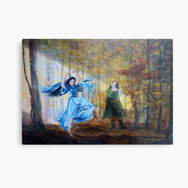 Luthien dances in the autumn woods Metal Print