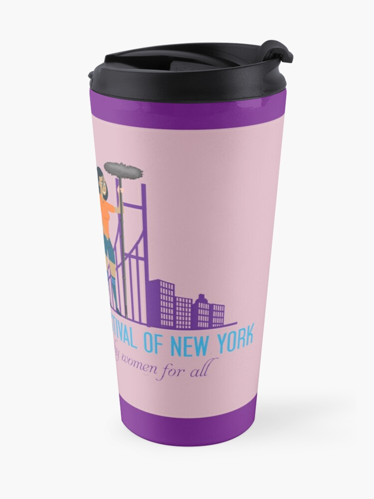 Alternate view of Uptown Women's Film Festival of New York Travel Mug