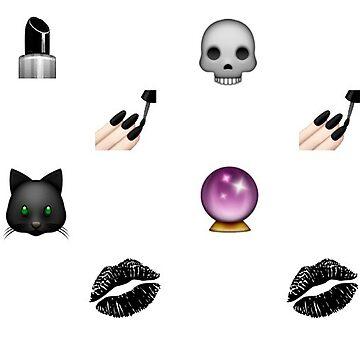 Goth Emoji by moonkissed