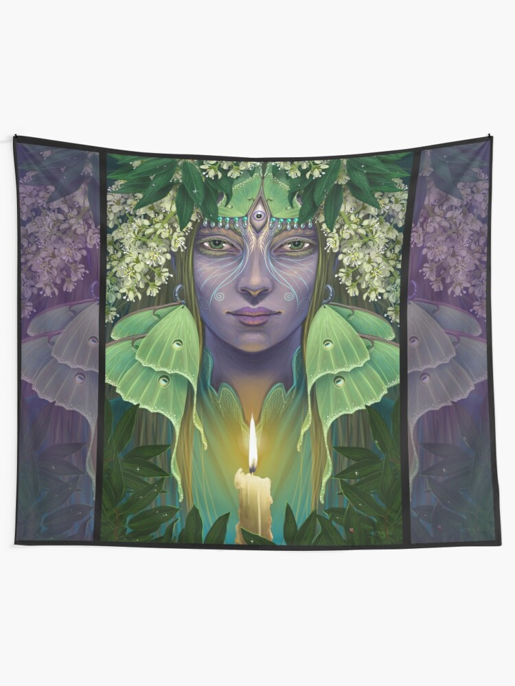 Alternate view of Luna Wall Tapestry